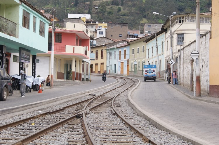 De straten van Alausí - Ecuador