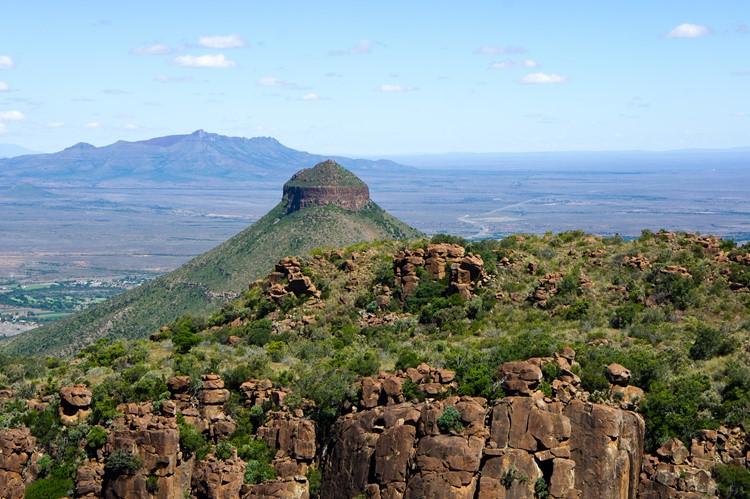 Uitzicht op het Karoo gebied, Zuid-Afrika