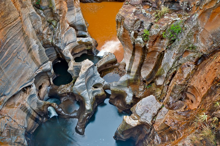 Bourke's Luck Potholes, Panorama Route, Zuid-Afrika