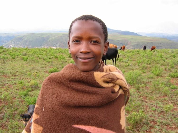 Jonge bewoner in Lesotho - Zuid-Afrika
