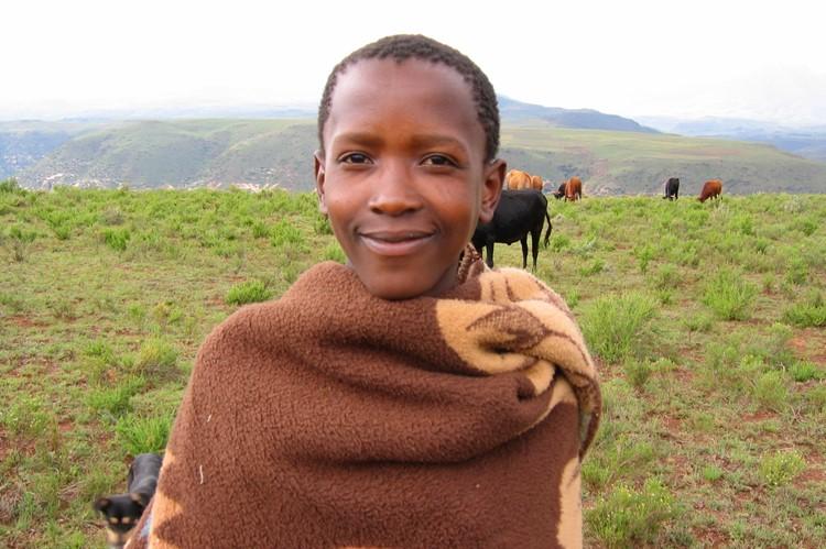 Jonge herder in Lesotho - Zuid-Afrika