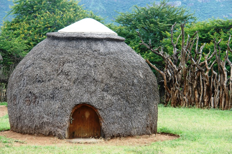 Traditionele rondavel in eSwatini