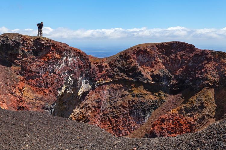 Ook vulkanen vind je op de Galápagos - Ecuador